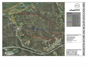 Broughton Trail Map 2015.08 Showing New Cross Country Course
