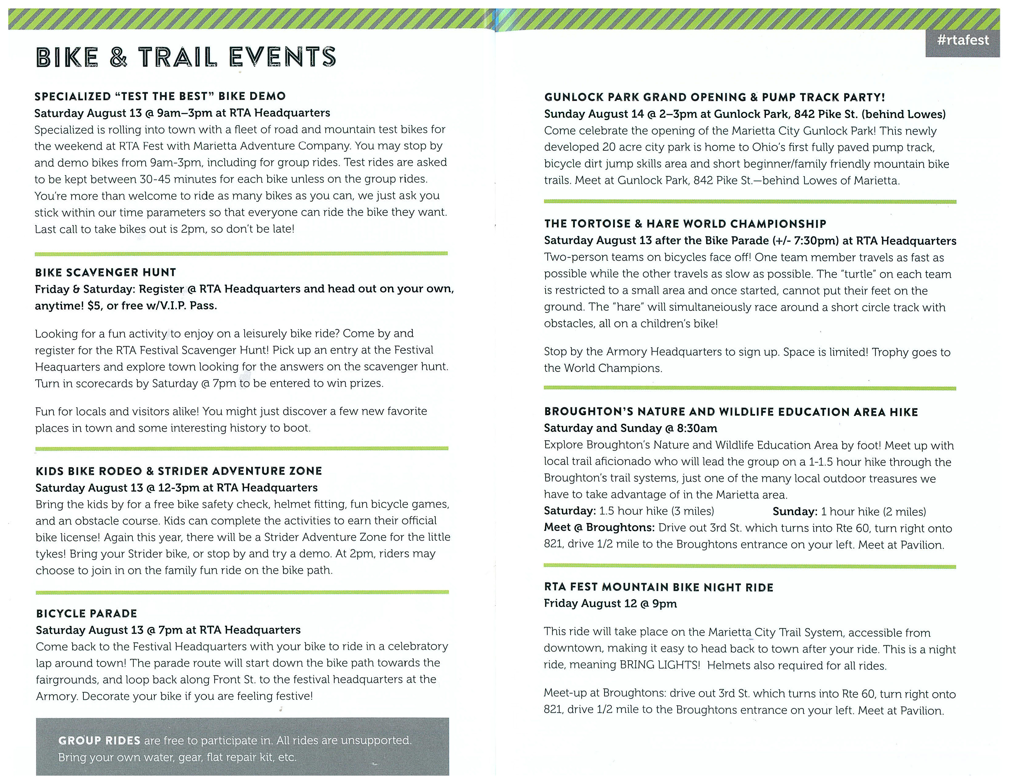 RTA Events - The Broughton Foundation